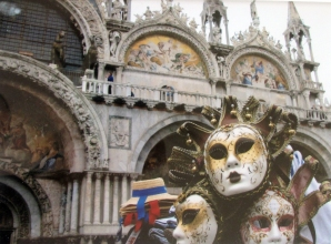 Italy-Photo Masks-St. Marco Square-Unframed-(5.5X7.5)-$35