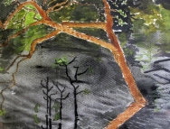 Brazil-Rionegro River-Watercolour on Paper-Framed-$100