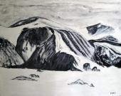Canada-Glazier Thule Mountain-Baffin Island-Finished Edges-(24X29.5)-$900
