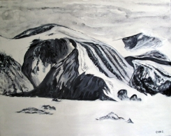 Canada-Glazier Thule Mountain-Baffin Island-Finished Edges-(24X29.5)-$900