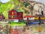 Canada- New Foundland-Quidi Vidi Harbour-Framed-(11X14.5)-$700