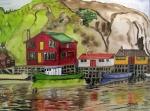 Quidi Vidi Harbour, Newfoundland, Canada - Watercolour (11X14.5) NFS