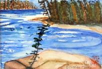 Canada-Sans Souci-Watercolour Sketch-Framed-(5X7.5)-$60