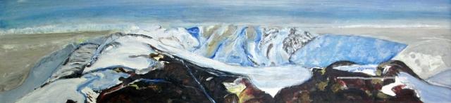 Canada-Thuli Mountain Glacier Bylot Island-Framed-(9.5X38)-NFS