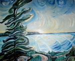 SOLD - Turbulence, Georgian Bay, Canada - Oil on Canvas (30X36)
