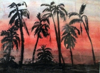 India-Sunset Halcyon Hotel-Framed-(5.5X8.5)-$125