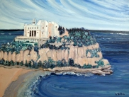 Italy-Monasterio-Tropea-Oil on Canvas-Finished Edges-(18X24)-$650