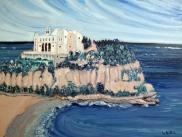 Italy-Monasterio-Tropea-Oil on Canvas-Finished Edges-(18X24)-$650