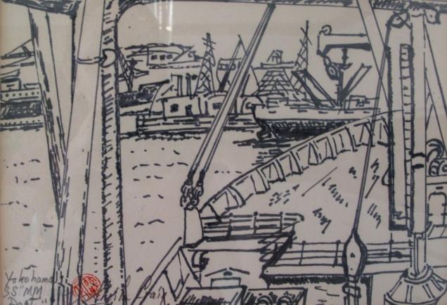 Japan-Yokohama Harbour-Framed-6.5X9)-NFS
