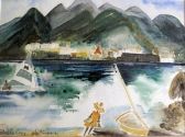 Martinique-Higler on the Beach-Framed-(9X11.5)-$175