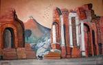 Amphitheatre, Taormina, Sicily - Oil on Canvas (23.5X36)