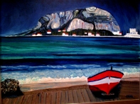 Sicily-Red Boat-Mondello Beach-(23.5X29.5) NFS