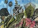 Garden, Monrovia, California - Watercolour on Paper (8.5X11.5)