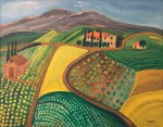 SOLD - Farm Scene, Tuscany, Italy - Acrylic on Canvas (16X20)