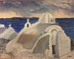 Paraportiani Church, Mykonos, Greece - Oil on Canvas (24X30)