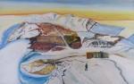 Bylot Island, Pond Inlet and Davis Strait, Canada - Acrylic on Board (25.5X41)