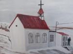 Church, Pond Inlet and Davis Strait, Baffin Island, Canada - Acrylic on Board (18X23.5)